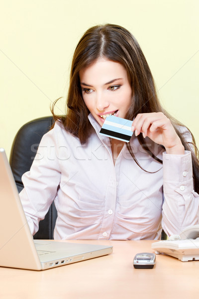 online shopping with credit card Stock photo © imarin