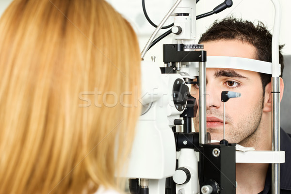 medical attendance at the optometrist Stock photo © imarin