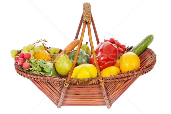 Basket with fruits and vegetables Stock photo © imarin