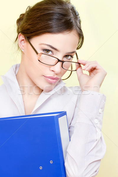 secretary with eyeglasses Stock photo © imarin