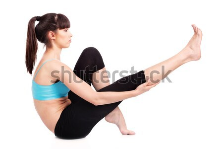 Stock photo: woman doing fitness exercises