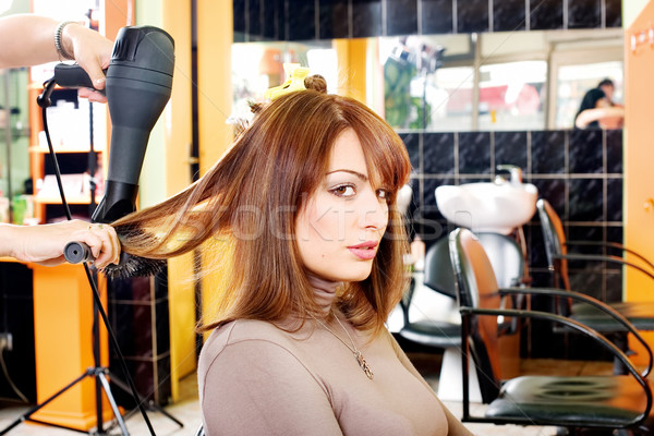satisfied customer in a hair salon Stock photo © imarin
