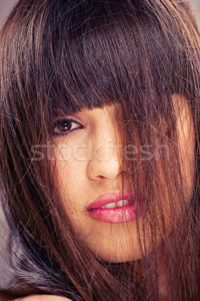 woman with long hair Stock photo © imarin