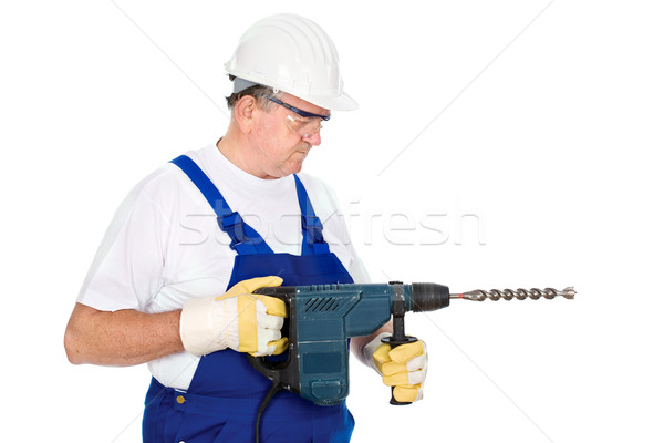 worker holding drill for concrete Stock photo © imarin