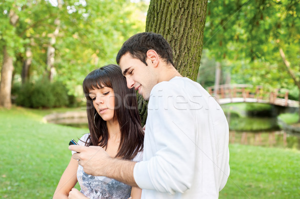 young couple outdoors Stock photo © imarin