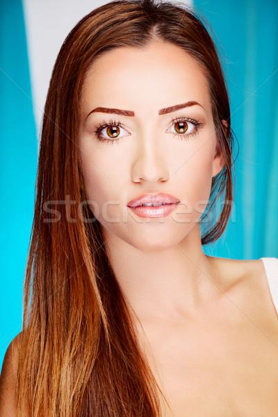Long hair brunette woman Stock photo © imarin