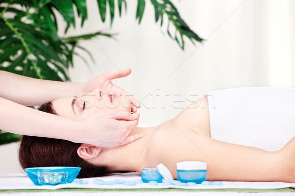 face massage Stock photo © imarin