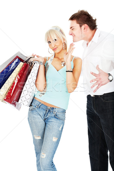 Stock photo: Yelling at her