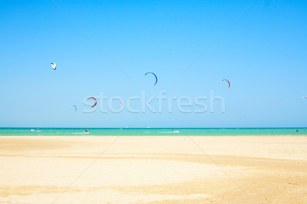 water sport on beach in Africa Stock photo © imarin