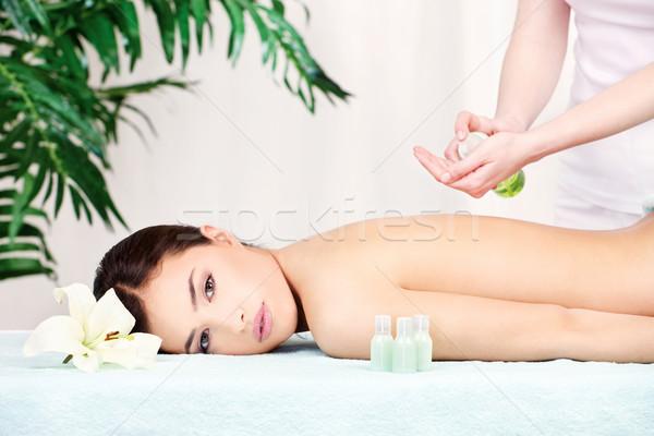 back massage Stock photo © imarin