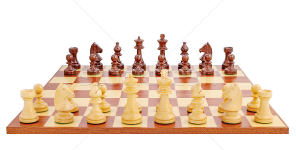 Chess board set up to begin a game Stock photo © imarin