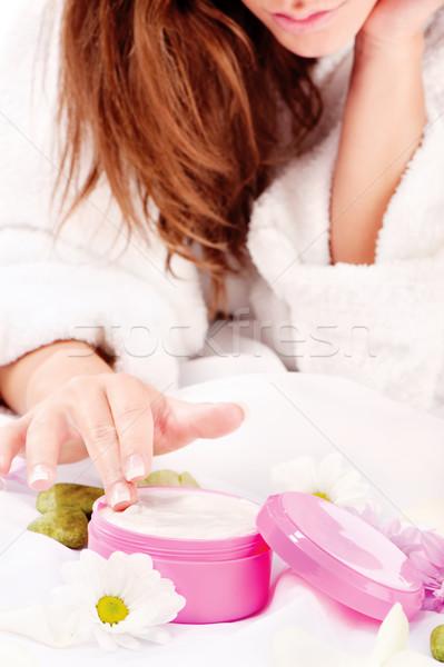 Peau main femme santé masque Photo stock © imarin