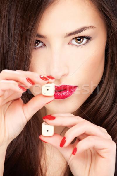 Jeune femme joli femme main Photo stock © imarin