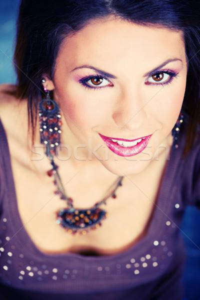 Make mooie jonge vrouw portret Stockfoto © imarin
