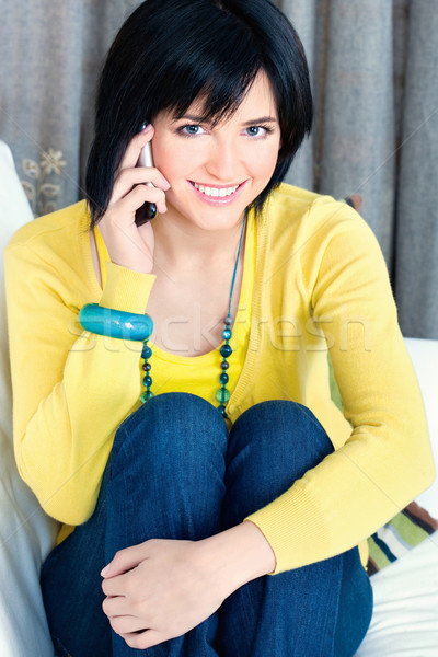 girl using mobile phone  Stock photo © imarin