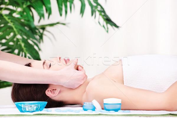 facial massage Stock photo © imarin