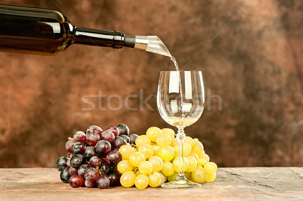 pour wine in cup Stock photo © imarin