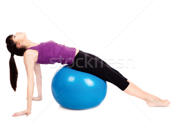 woman doing fitness exercises Stock photo © imarin