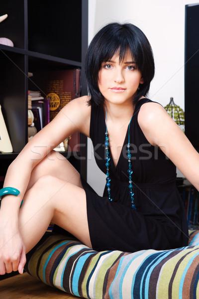 woman at home Stock photo © imarin