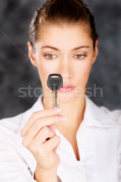 Key in a hand of a woman Stock photo © imarin