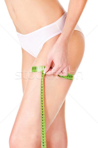 female body and measure tape Stock photo © imarin