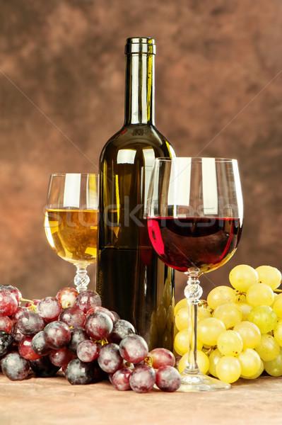 wine cups and grape Stock photo © imarin