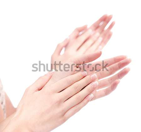 two woman hands applauding, isolated on white Stock photo © imarin