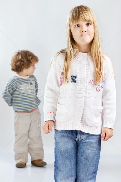 Two children Stock photo © imarin