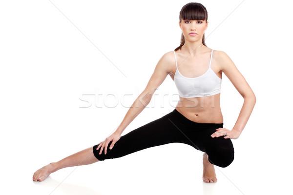 Zdjęcia stock: Kobieta · fitness · młoda · kobieta · odizolowany · biały · pracy