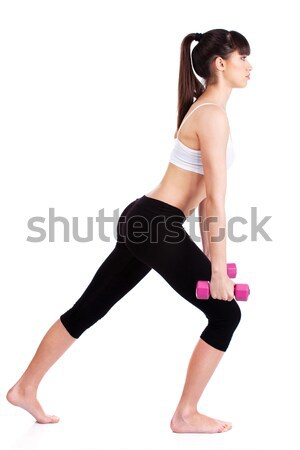 Woman doing exercise Stock photo © imarin