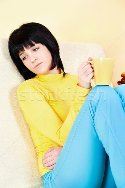 young woman at home Stock photo © imarin
