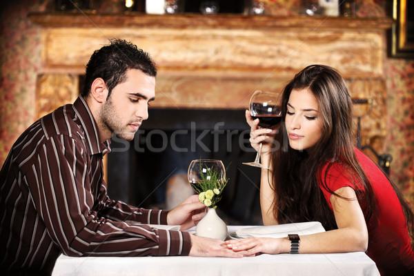 Hand houden vergadering tabel drinken Stockfoto © imarin