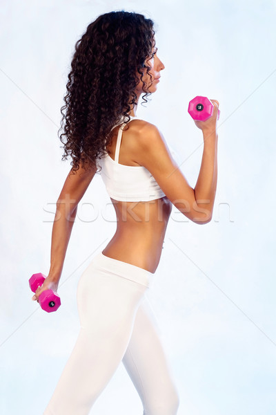 fitness exercises with weights Stock photo © imarin