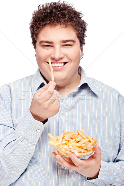 chubby man and food Stock photo © imarin