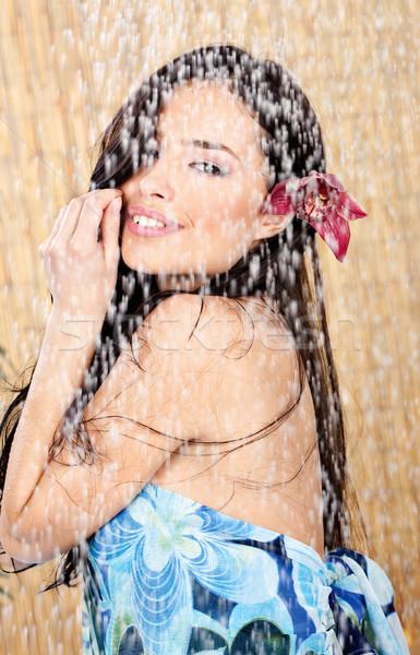 woman having a shower Stock photo © imarin