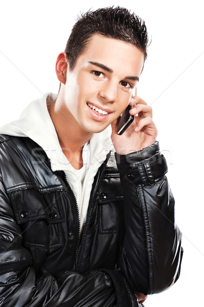 Stock photo: young handsome man