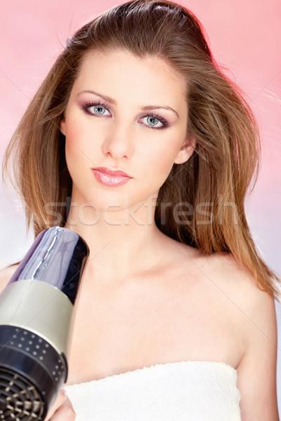 woman dry hair Stock photo © imarin
