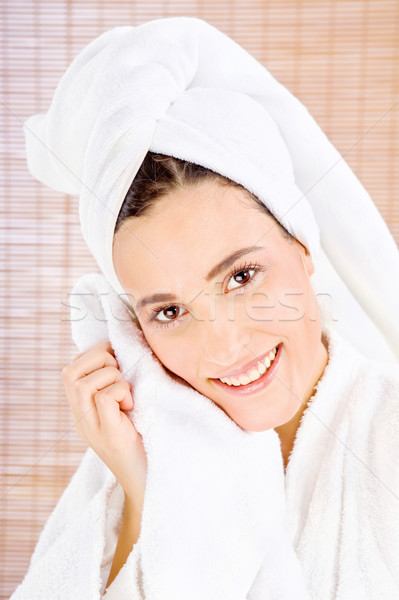 Woman with towel Stock photo © imarin