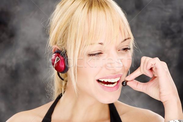 friendly telephone operator Stock photo © imarin