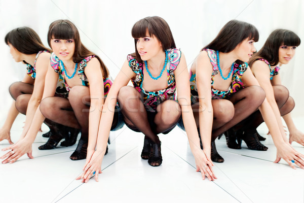 Vrouw mooie vrouw twee reflectie mooie hielen Stockfoto © imarin