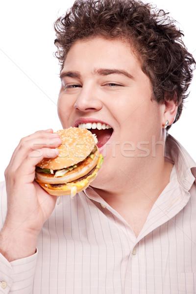 chubby man and food Stock photo © imarin