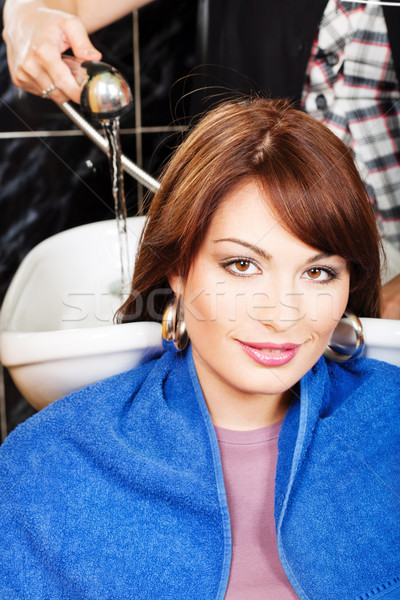 Washing hair Stock photo © imarin