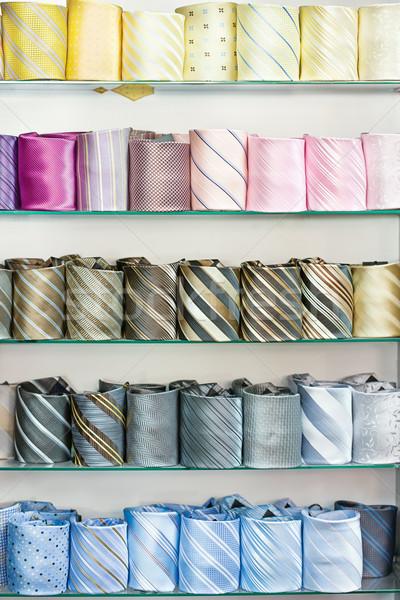 üzlet férfi szövet osztály nyakkendő selyem Stock fotó © imarin