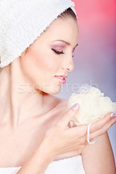 skin care with sponge Stock photo © imarin