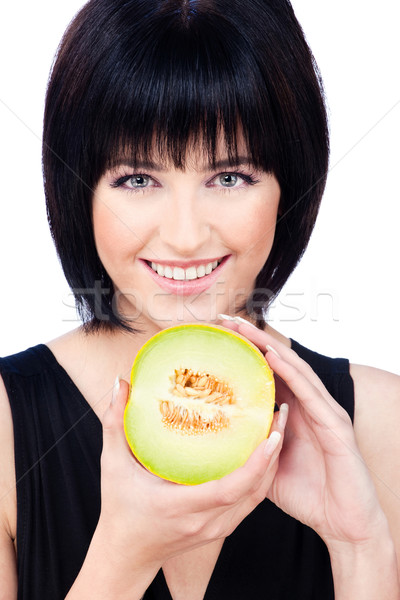 Woman with fruit Stock photo © imarin