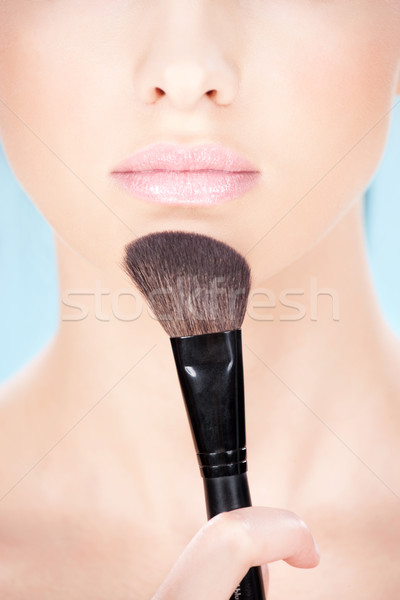 Cosmetica gezicht meisje mode schoonheid Stockfoto © imarin