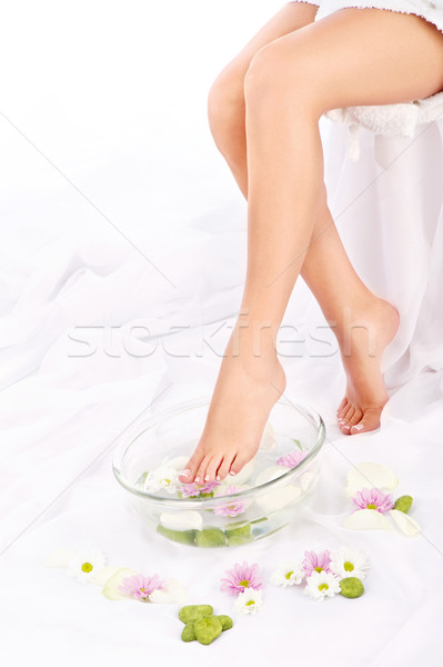 Slim legs of beautiful girl Stock photo © imarin