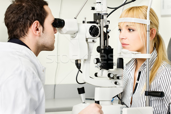 eye examination Stock photo © imarin