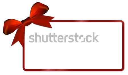 Christmas card with red bow Stock photo © impresja26