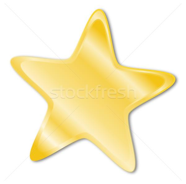 Decorative star with golden frame Stock photo © impresja26